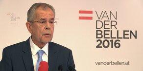 Van der Bellen: Erstes Statement