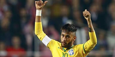 Superstar Neymar bereits in Wien