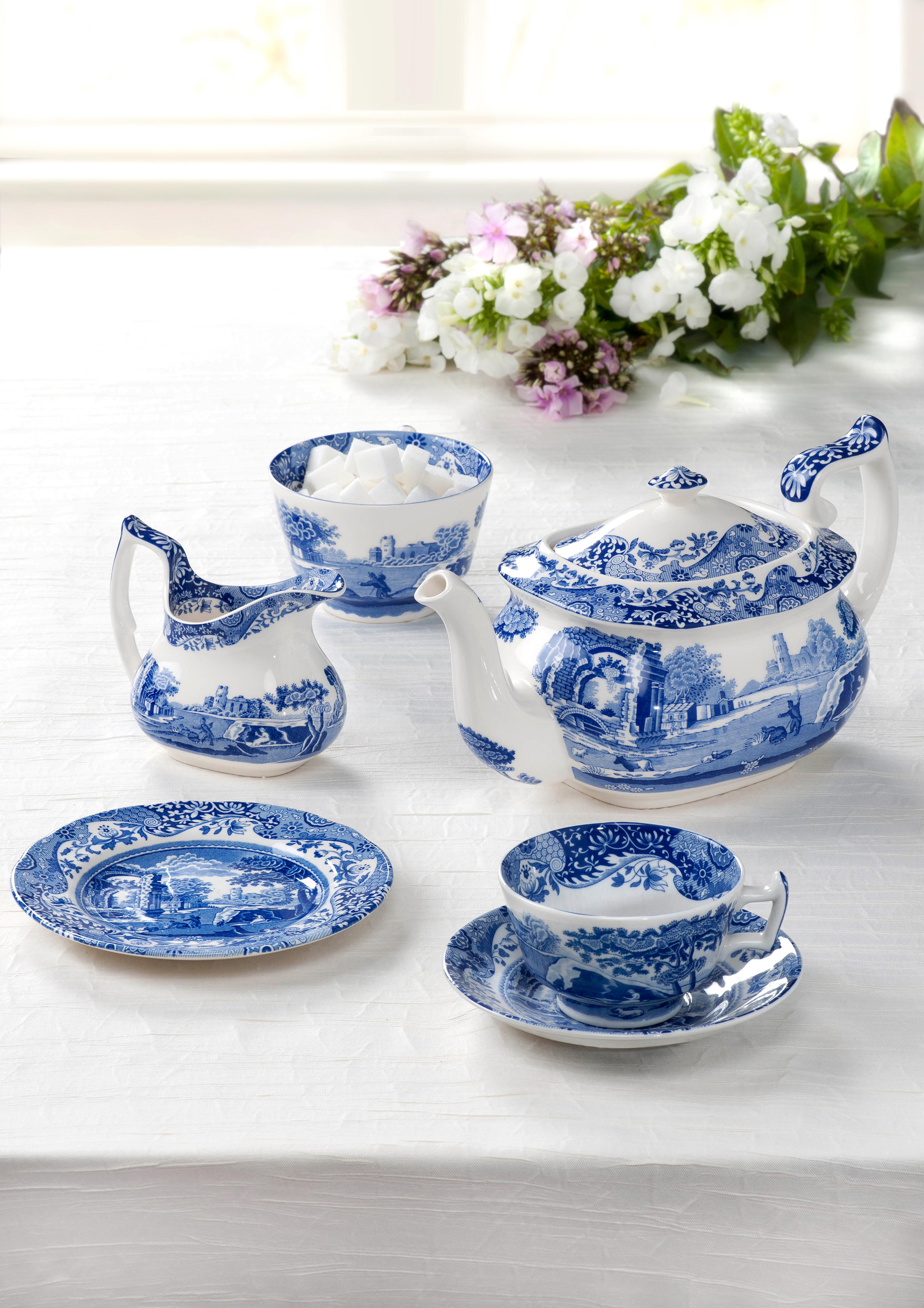 Niessner Geschirr - ADV - Blue Italian Tea Set