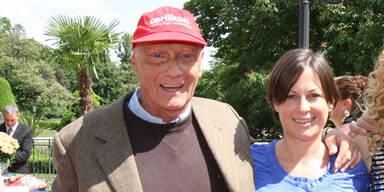 Niki Lauda und seine Birgit
