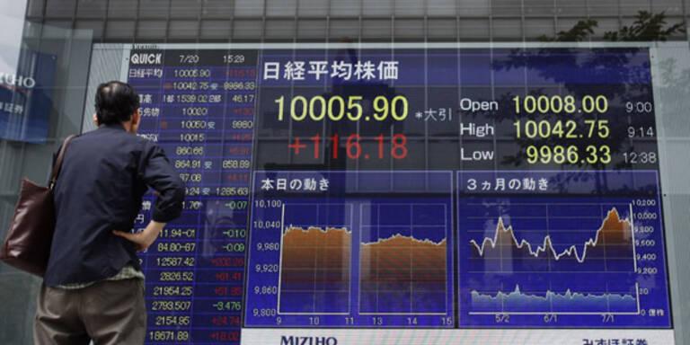 Leitbörsen Fernost einheitlich im Minus