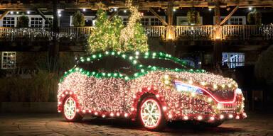 Nissan macht den Leaf zum Weihnachtsbaum
