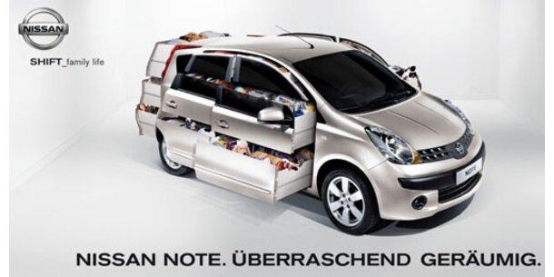 Eine Auto mit Schubladen