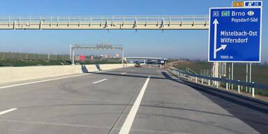 Nordautobahn vor Verkehrsfreigabe