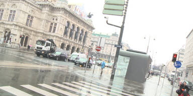 Der Winter ist für einen Tag zurück in Wien