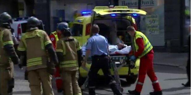 Mann zündet sich vor Breivik-Gericht an