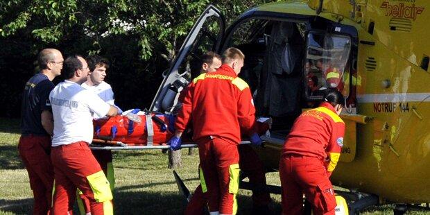 Vier Schwerverletzte bei Frontalzusammenstoß