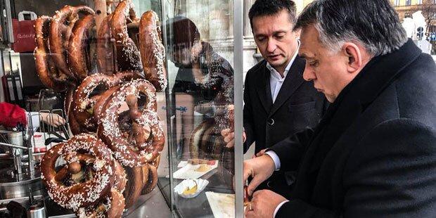 Orbán: 1. Weg in Wien zum Würstelstand