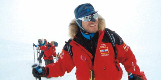 Geschafft: Maier erreicht Südpol