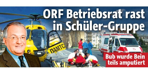 ORF-Betriebsrat rast in Schüler-Gruppe