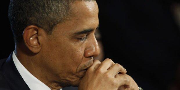Krisen zwingen Obama auf Rekordtief