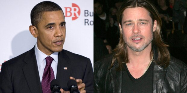 Barack Obama und Brad Pitt verwandt