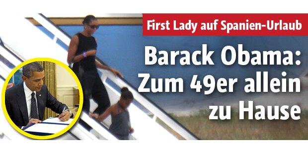Michelle Obama alleine auf Urlaub