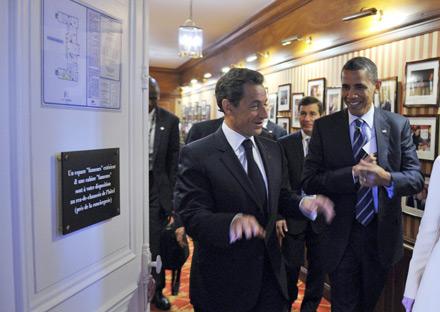 Obama Sarkozy G8 Deauville