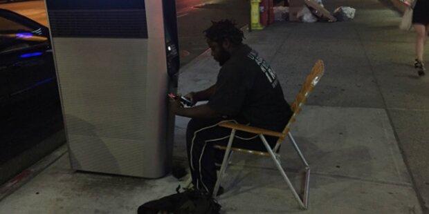 Obdachlose blockieren WLAN-Stationen