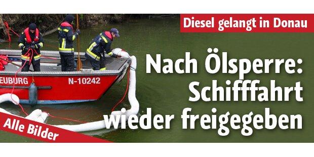 Ölfilm: Donau-Schifffahrt freigegeben