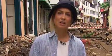 Mit Schlamm beschmiert: So rechtfertigt sich RTL-Reporterin