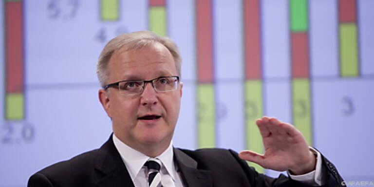 Olli Rehn präsentiert seinen Vorschlag in Brüssel