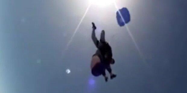 Fallschirmsprung wird Albtraum für 80-Jährige