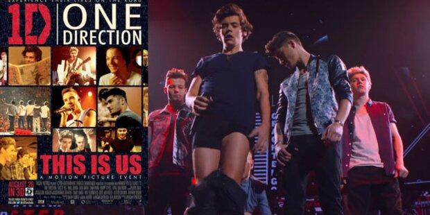 One Direction lassen im Kino die Hosen herunter