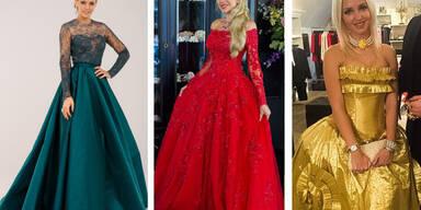 Dieses Kleid hat es bei Dschungelstar Helena Fürst in die Endauswahl geschafft. Entschieden wird aber spontan.