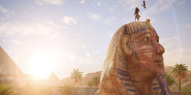 Ubisoft lässt uns als Adler über Pyramiden fliegen