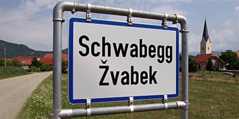 Zweisprachige Ortstafel in Kärnten