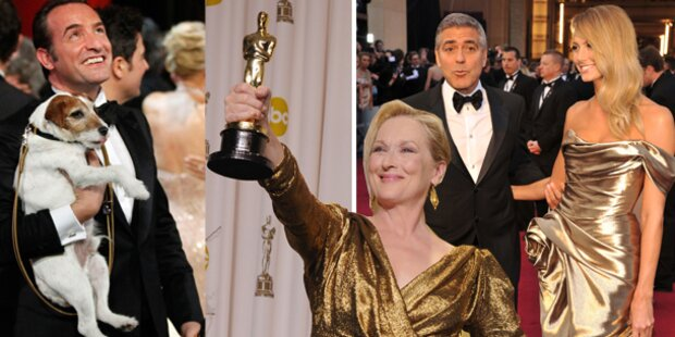 Oscar-Gala 2012: Alle Stars, alle Gewinner