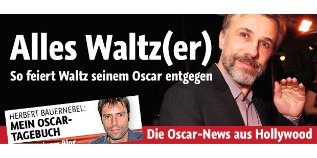 So feiert Waltz seinem Oscar entgegen