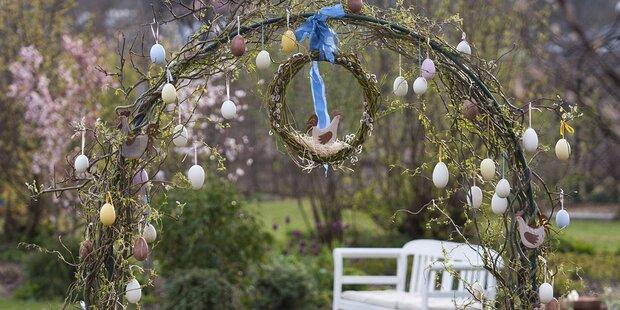 Fröhliche Ostern im Garten