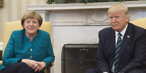Oval Office Merkel Trump