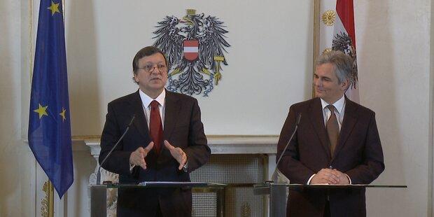 EU-Chef Barroso zu Besuch bei Faymann