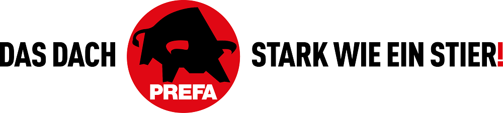 PREFA - ADV - Logo - Das Dach stark wie ein Stier!