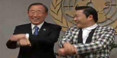 Ban Ki Moon und Psy tanzen Gangnam Style