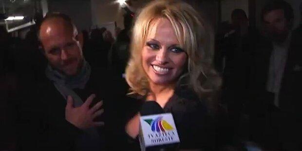 Zicke Pamela Anderson ist heute in Wien