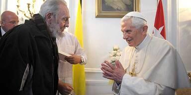 In Kuba: Papst traf auf Fidel Castro