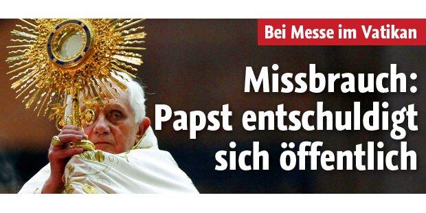 Papst bittet Opfer um Vergebung