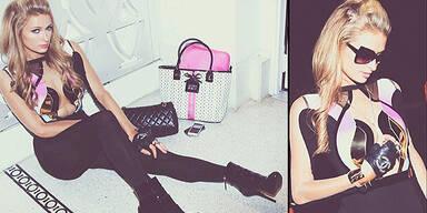 Paris Hilton feiert munter weiter!