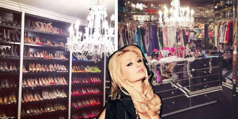 Paris Hilton mistet ihren Kleiderkasten aus