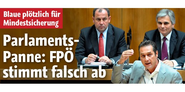 Mindestsicherung fix -mit FPÖ-Stimmen