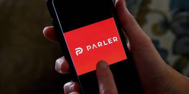 Parler App am Smartphone