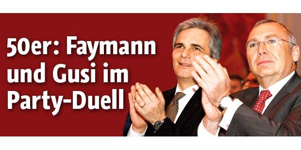 Faymann und Gusi im Party-Duell