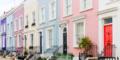 Pastellfarbene Häuser