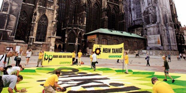 BP-Protest in der Wiener Innenstadt
