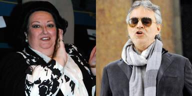 Monserrat Caballé und Andrea Bocelli