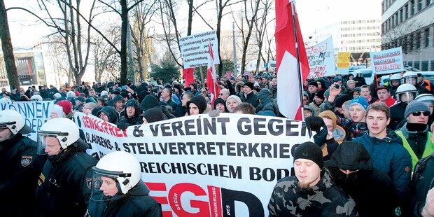 Pleite für Pegida in Linz