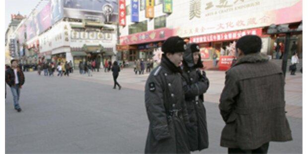 Männer überlebten Selbstverbrennung in Peking