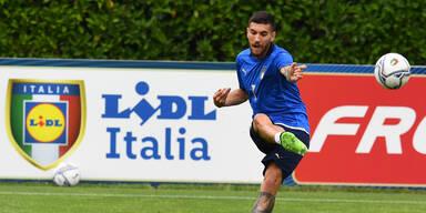 Lorenzo Pellegrini im Italien-Training vor der EM 2020