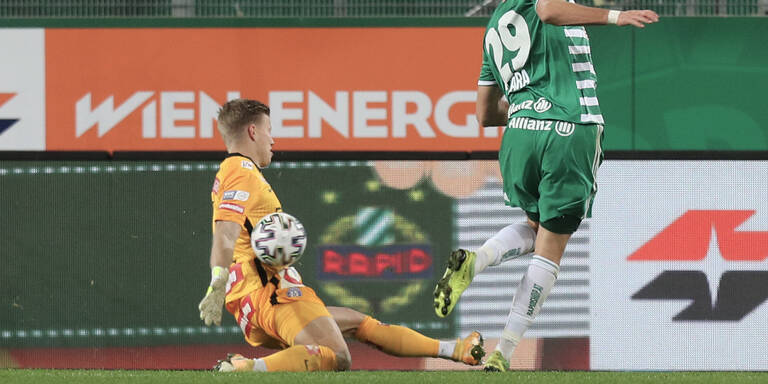 Rapid verzweifelte an Austria-Goalie Pentz