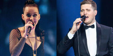 Katy Perry und Michael Bublé